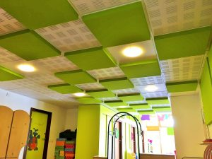 Faux-plafond acoustiques - Faux-plafond Faux plafond acoustique en acoutic panel 2V color suspendu