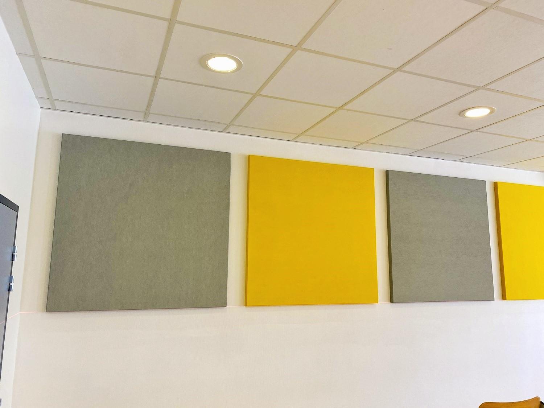 Panneaux acoustiques - Panneaux Absorber Polar color posé au mur par collage