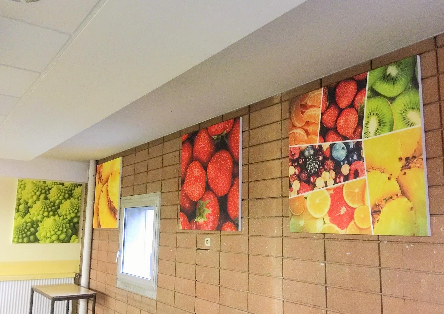 Panneaux acoustiques - Panneaux Acoustic Panel 2V picture posé au mur par suspension