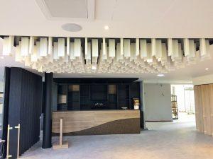 Baffles & objets acoustiques - Baffles & objets Baffles Absorber design color posée au plafond par collage