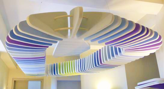 Baffles & objets acoustiques - Baffles & objets Baffle Absorber Ludique picture posée au plafond par suspension