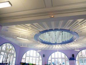 Baffles & objets acoustiques - Baffles & objets Baffles Absorber Rondo posée au plafond par suspension