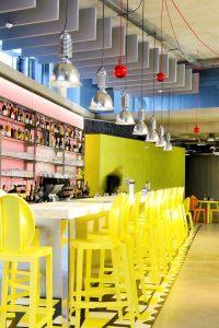 Baffles & objets acoustiques - Baffles & objets Baffles Absorber design color posée au plafond par suspension