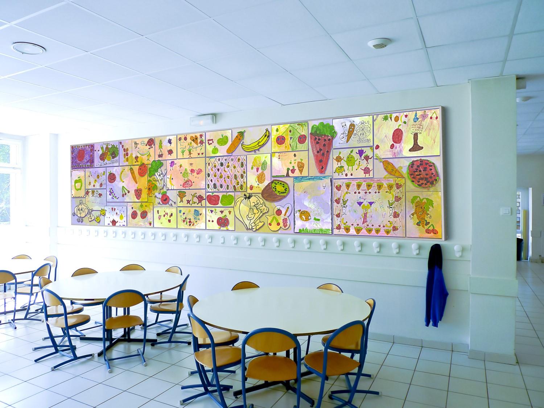 Panneaux acoustiques - Panneaux Acoustic Panel 2V picture posé au mur par collage