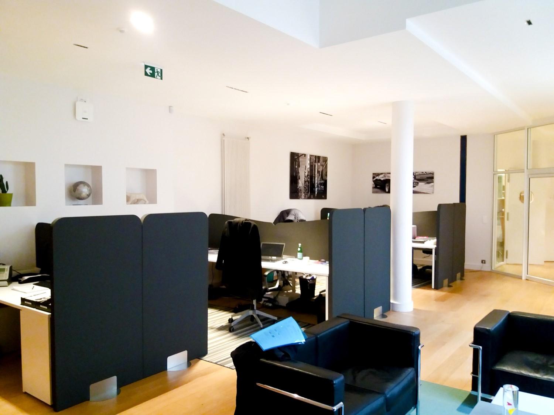 Design acoustique - Design Paravent acoustique en Acoustic Panel 2V color avec piètement métal