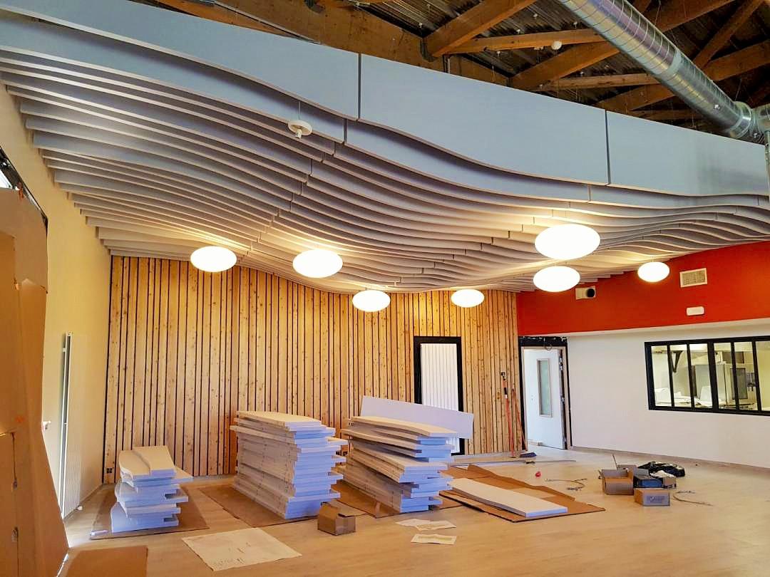Industrie  - Industrie Baffle absorber linear suspendu au plafond