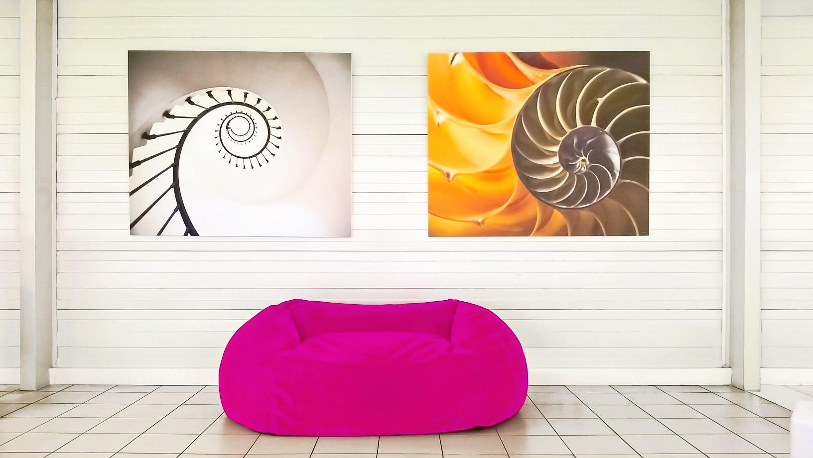 Design acoustique - Design Tableau acoustique picture posé au mur par aimantation