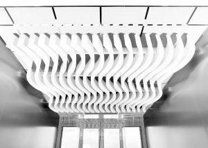 Baffles & objets acoustiques - Baffles & objets Baffles Absorber design posée au plafond par suspension