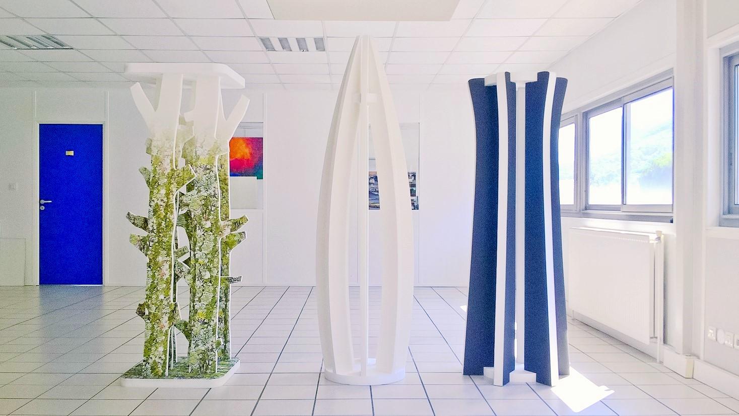 Design acoustique - Design Colonne acoustique color et picture