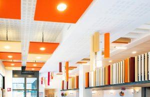 Panneaux acoustiques - Panneaux Acoustic Panel 2V design posé au mur par collage