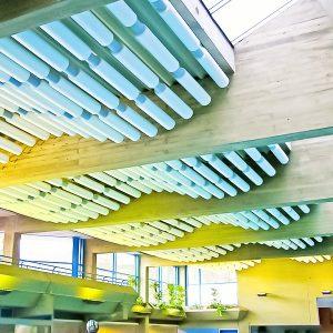 Baffles & objets acoustiques - Baffles & objets Baffle Absorber Polygone color posée au plafond par suspension
