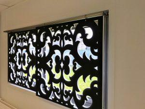Design acoustique - Design Rideau acoustique color posé par suspension