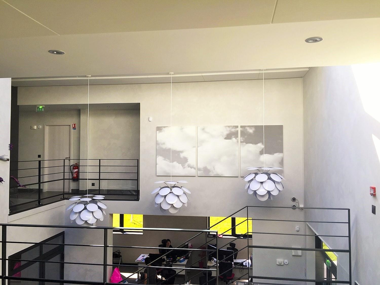 Panneaux acoustiques - Panneaux Tableau acoustique picture posé au mur par collage