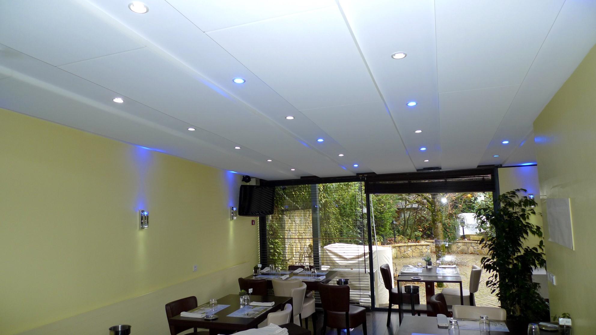 Panneaux acoustiques - Panneaux Ambiance classic posé au plafond par collage