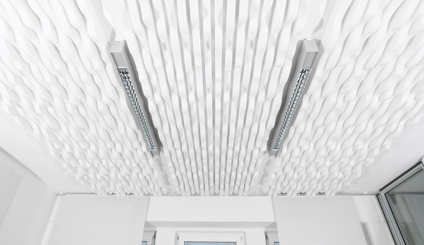 Baffles & objets acoustiques - Baffles & objets Baffle Absorber Polygone posée au plafond par collage