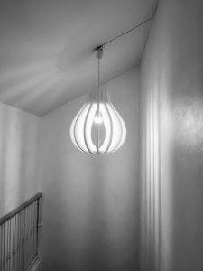 Design acoustique - Design Luminaire acoustique posé au plafond par suspension