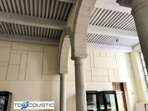 Panneaux acoustiques - Panneaux Acoustic Panel 2V color posé au mur par collage