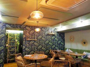 Panneaux acoustiques - Panneaux Acoustic Panel 2V color posé au plafond par collage