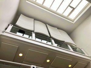 Design acoustique - Design Brise vue acoustique posé au plafond par suspension