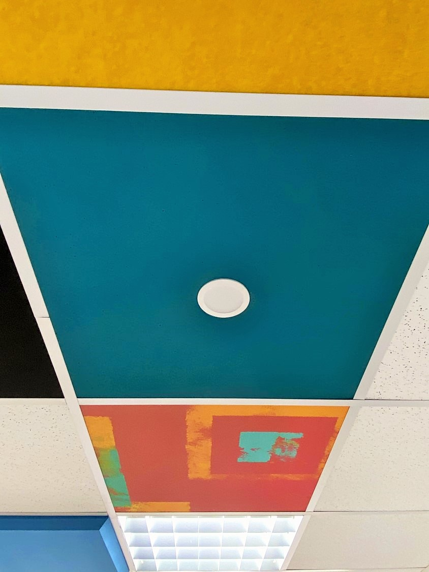 Faux-plafond acoustiques - Faux-plafond Faux plafond acoustique en absorber ampbient plano color suspendu