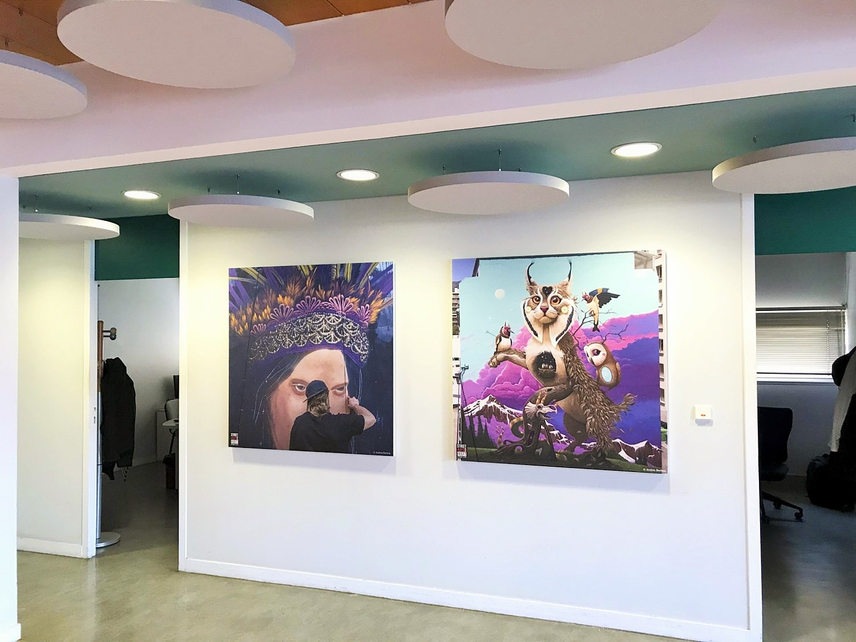 Design acoustique - Design Acoustic Panel 2V picture posé au mur par collage