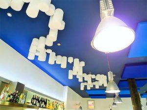 Panneaux acoustiques - Panneaux Ambiance design color posé au plafond par collage en forme de cercles