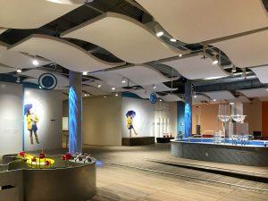 Capteurs & ilots acoustiques - Capteurs & ilots Capteur Absorber Equilibre design posé au plafond par suspension en forme de vague