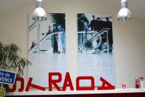 Capteurs & ilots acoustiques - Capteurs & ilots Capteur balance AP2V Polar picture posé au mur par collage