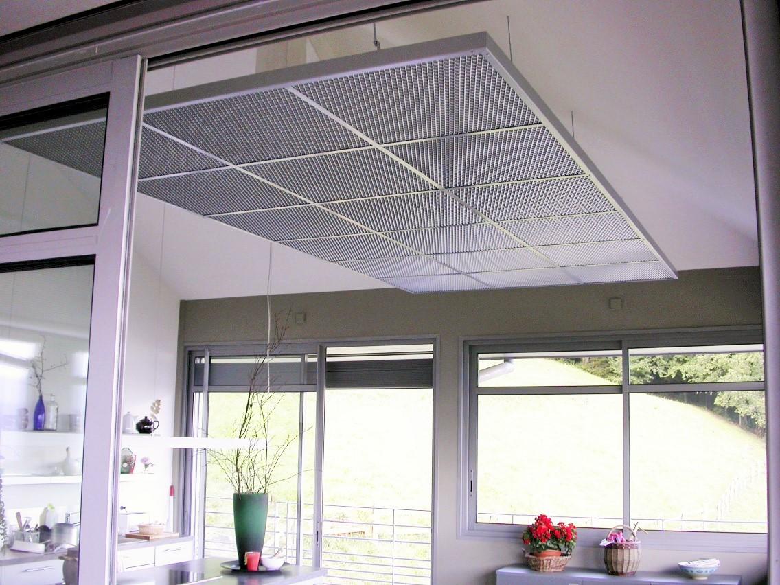 Faux-plafond acoustiques - Faux-plafond Faux plafond acoustique en squarline classic suspendu