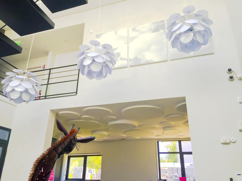 Panneaux acoustiques - Panneaux Ambiance design classic posé au plafond par collage en forme de cercles