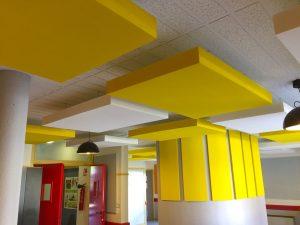 Capteurs & ilots acoustiques - Capteurs & ilots Capteur Absorber Equilibre color posé au plafond par suspension