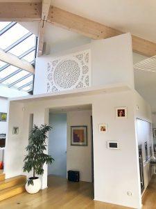 Design acoustique - Design Forme acoustique sur mesure - tableau acoustique posé au mur par collage