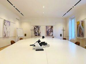 Design acoustique - Design Acoustic Panel 2V picture posé au mur par suspension