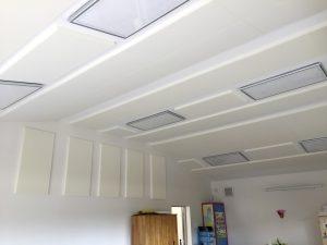 Panneaux acoustiques - Panneaux Ambiance classic posé au plafond  et au mur par collage