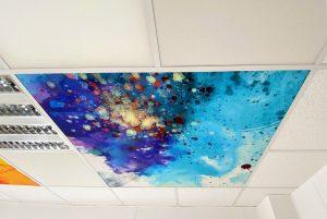 Faux-plafond acoustiques - Faux-plafond Faux plafond acoustique en acoutic panel 2V picture suspendu