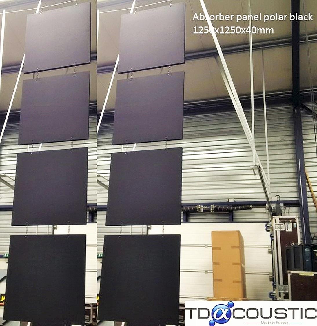Panneaux acoustiques - Panneaux Absorber Polar classic posé au plafond par suspension