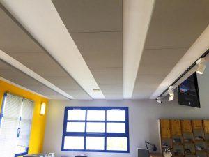 Panneaux acoustiques - Panneaux Ambiance design color posé au plafond par collage